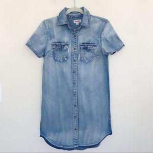 True Religion Denim Chambray Shirt Dress
